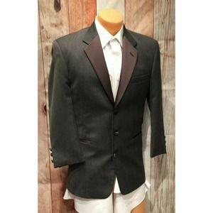 Chaps Ralph Lauren 48R GRAY Pointy Tuxedo Jacket